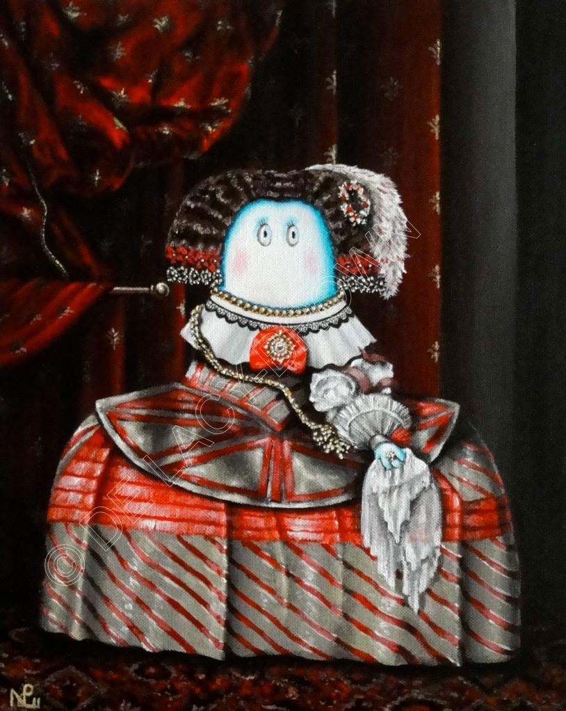 Infanta Norm (After Velázquez) (2011, acrylic on canvas) © Nicholas de Lacy-Brown