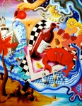 Joie de Vivre (Zest of Life) 1: Crab Cocktail (2005, acrylic on canvas)