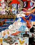 Joie de Vivre (Zest of Life) 3: Casino Nights (2005, acrylic on canvas)