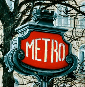 Paris Metro (2009, oil on canvas) © Nicholas de Lacy-Brown