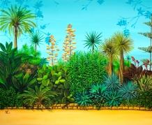 Paseo Banus (2011 © Nicholas de Lacy-Brown, Acrylic on canvas)