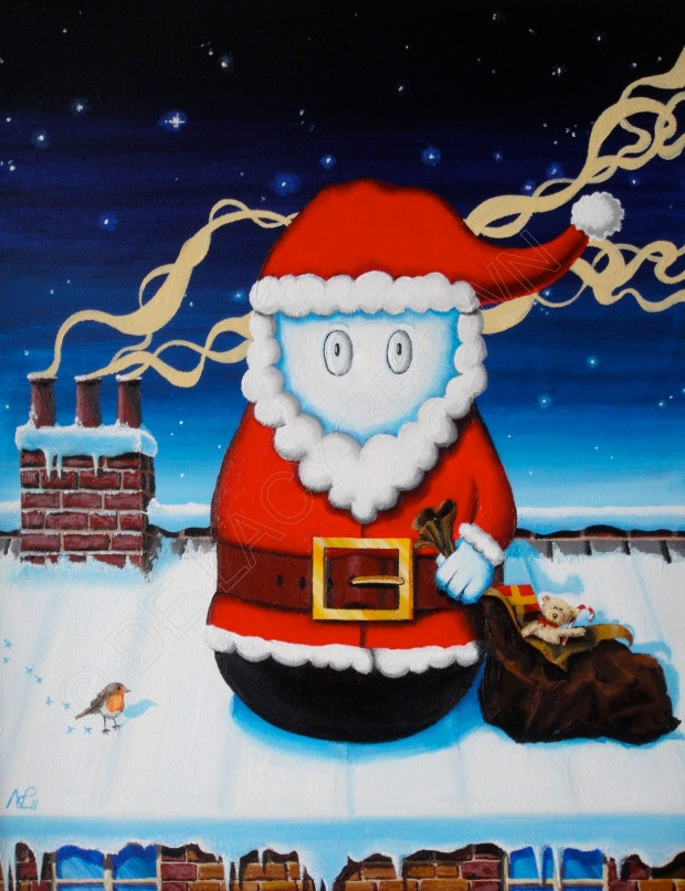 Santa Norm (2011, acrylic on canvas) © Nicholas de Lacy-Brown