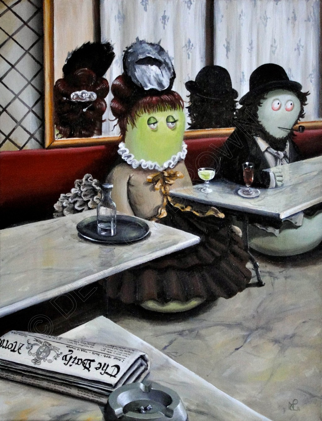 L'Absinthe Norm (acrylic on canvas, 2011 © Nicholas de Lacy-Brown)