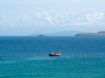 Cornish fishing boat off the coast of St Ives