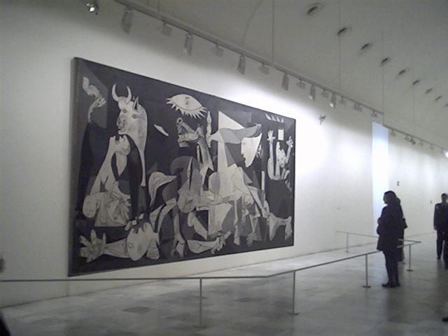 War on canvas guernica history repeating itself the for Mural guernica