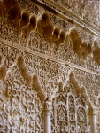Moorish details of islamic architecture in the Real Alcazar