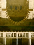 Reflected image of the Real Alcazar in one of its pools