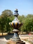 Ceramics vase in the Plaza de España
