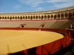 Gold and blood; sol y sombra: Seville's bullring