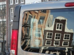 Van reflecting old Amsterdam