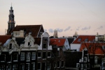 Dusk over Amsterdam - viewed from our hotel room