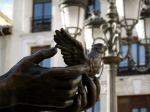 The outstretched hand of Federico Garcia Lorca (statue in the Plaza de Santa Ana)