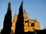 The golden glow of an early morning sunrise in Salamanca