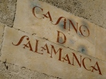 Typical street writing of Salamanca (originally written in big's blood and olive oil)