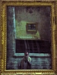 Freaky photo - me reflected in an old convent mirror