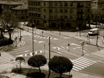 City style junction, but almost deserted