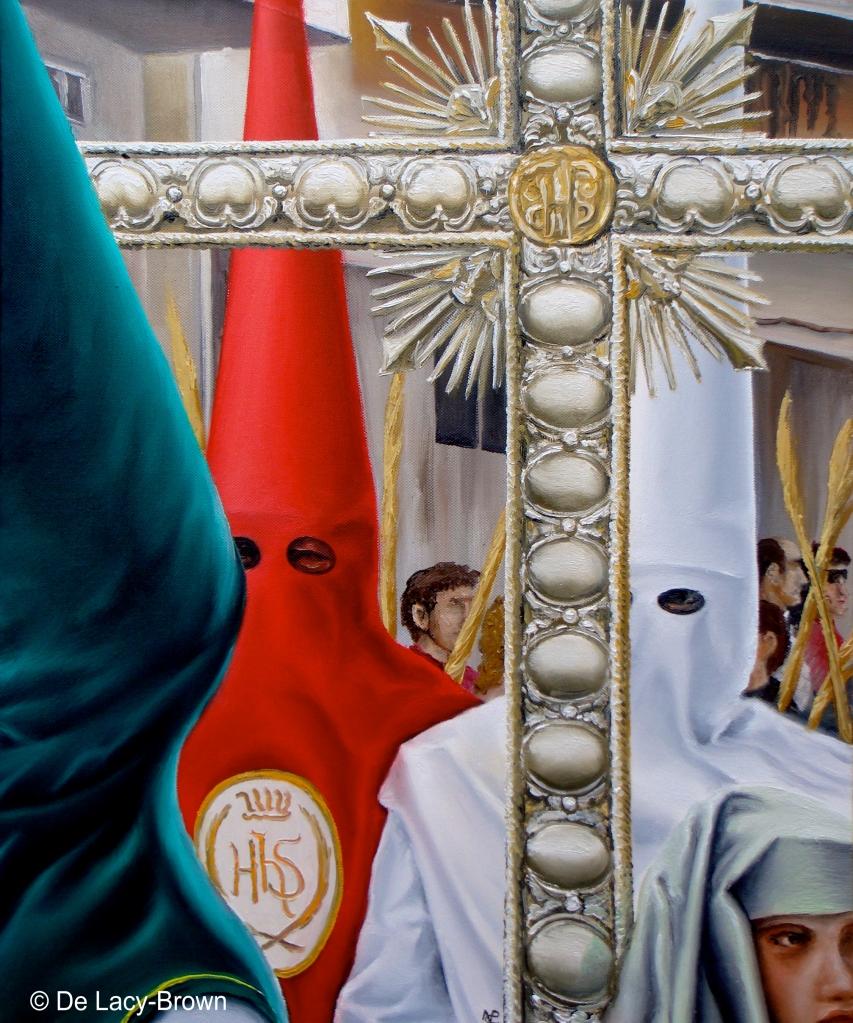 Grupo de Nazareños (2009 © Nicholas de Lacy-Brown) Oil on canvas