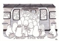 Tube Norms (2012, © Nicholas de Lacy-Brown, pen on paper)