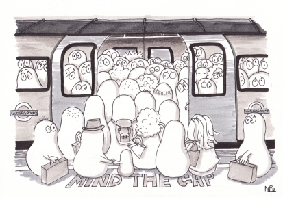 Tube Norms (2012, © Nicholas de Lacy-Brown, pen on paper)