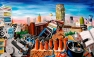 High Perspective (Viewed from 21c) (2003 © Nicholas de Lacy-Brown, acrylic on canvas)