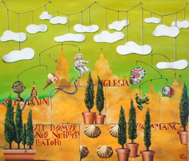 Salamanca (2012 © Nicholas de Lacy-Brown, oil on canvas, 105 cm x 90 cm)