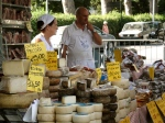 A market in the seaside town of Donoratico