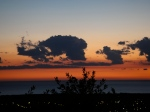 Sunset over the Mediterranean viewed from Castagneto Carducci