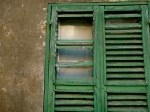 I adore these old broken shutters