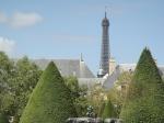 Rodin's Le Penseur and the Tour Eiffel