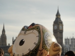 The olympic mascots who have sprung up all over London