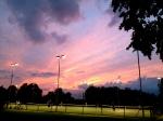 Tennis court lights up the darkness in Clapham