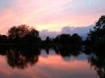 Sunset over Clapham Common