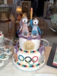 Loving this mascot cake I spotted in a shop window in Chelsea
