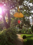 A rather phallic sculpture at Chelsea's Physic Gardens