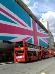 National pride is plastered across the streets of the city