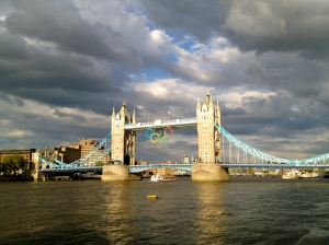 Rings hang from the iconic Tower Bridge