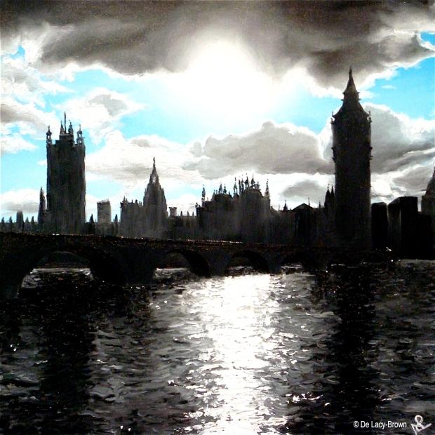 Cityscape I: London (2012 © Nicholas de Lacy-Brown, oil on canvas)