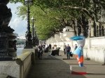 Tourist Mandeville on the Albert Embankment