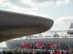 The Aquatic Centre overlapping the main Athletes stadium