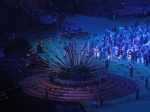 The paralympic flame extinguished