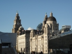 "The UNESCO protected ""Three Graces"" at Pier Head"