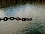 I love this broken chain, suspended in midair as if defying gravity