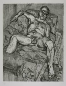 Lucian Freud, Man Posing (1985)