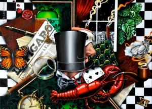 The Gentleman (in Paris) 2012 © Nicholas de Lacy-Brown, acrylic on canvas