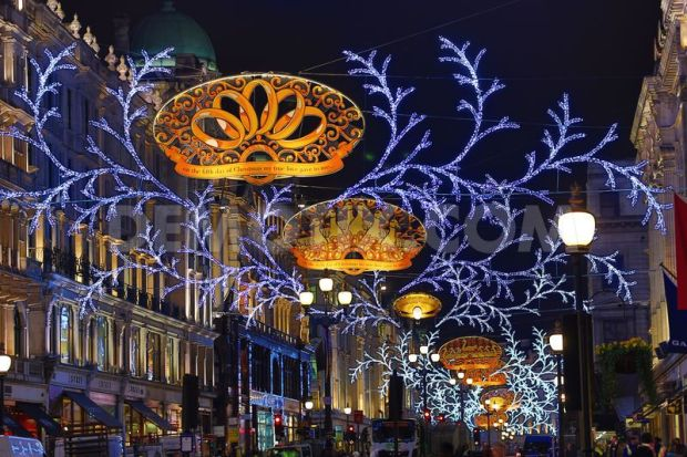 The lights on Regent Street