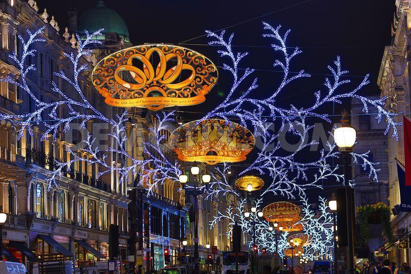 The lights on Regent Street