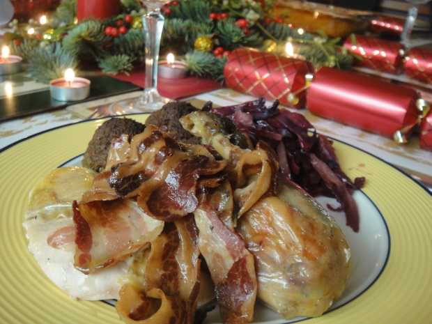 Delicious guinea fowl and pancetta served up