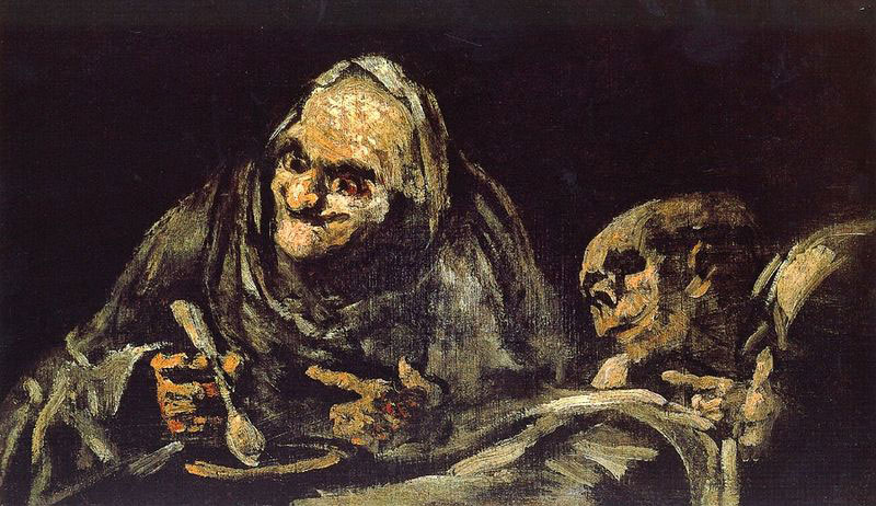 Detail from one of Goya's Black Paintings