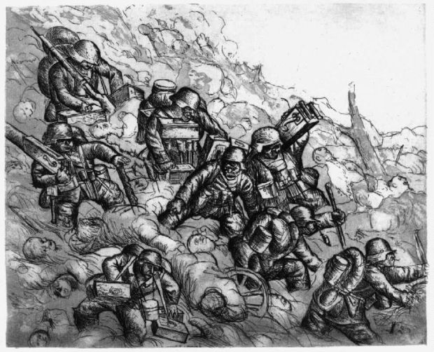 Dix, Machine Gunners Advancing