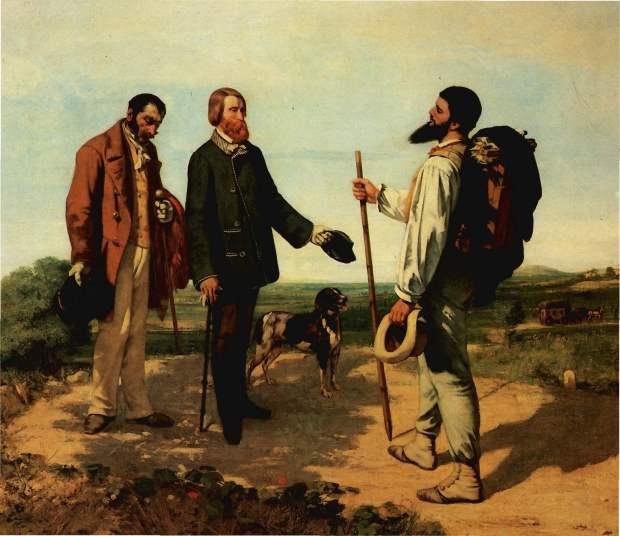 Gustav Courbet, La Recontre ou Bonjour M. Courbet (1854)